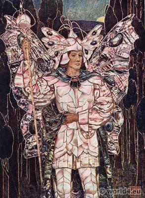 Fairy, fantasy costume. Art nouveau dress. Frederick Marriot