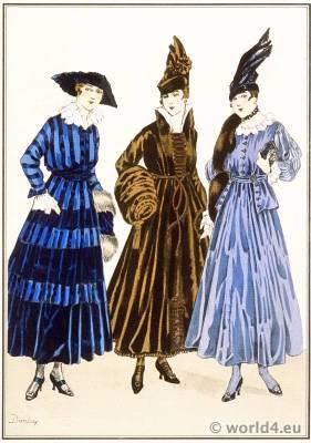 Tissus de Rodier. Le style parisien. Art deco fashion magazine. French parisiennes collection haute couture
