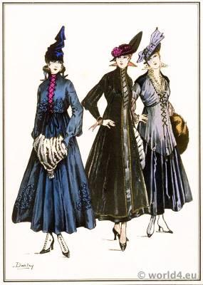 Lace dresses. Le style parisien. Art deco fashion magazine. French parisiennes collection haute couture.
