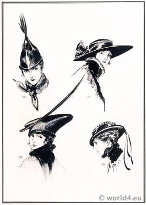 Art deco hat fashion by Suzanne Talbot. Le style parisien. Art deco fashion magazine. French parisiennes collection haute couture