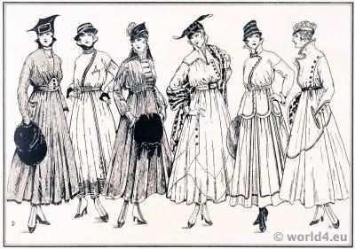 Petty Dresses Tailor Style. Le style parisien. Hints for the Dressmaker