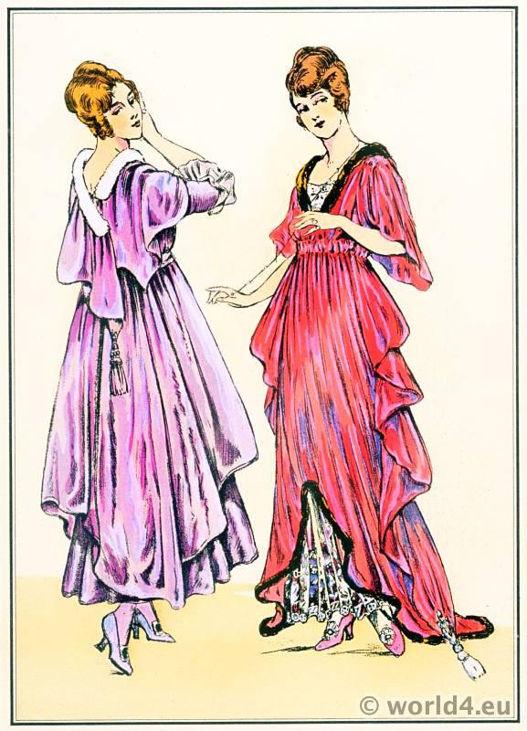 House gowns. Le style parisien. Art deco fashion magazine. French parisiennes collection haute couture