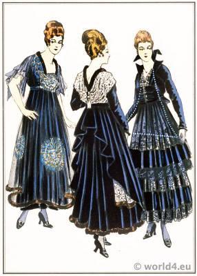 Premet, Paquin, Dœuillet, style, Art deco, haute couture