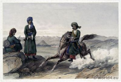 First Afghan War. Balochistân. Military uniforms. James Atkinson. Clothing & dress