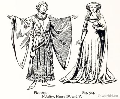 Medieval costumes 15th century. Burgundy court dresses. Fashion Burgundy court dresses. Hennin. Headdresses