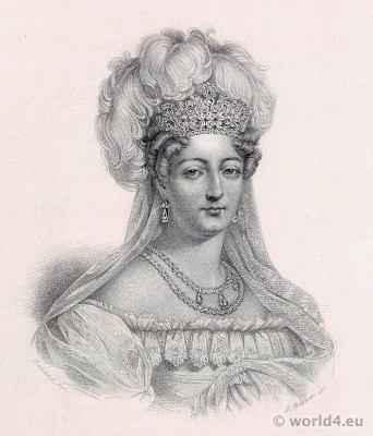 Portrait Duchess of Angoulême. French Revolution History. Empire costume