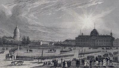 École Militaire Champ de Mars. French Revolution History. 18th century costumes.