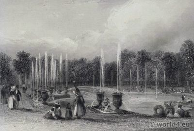 Garden, Versailles, Royal, château, Louis XIV, palace, France,