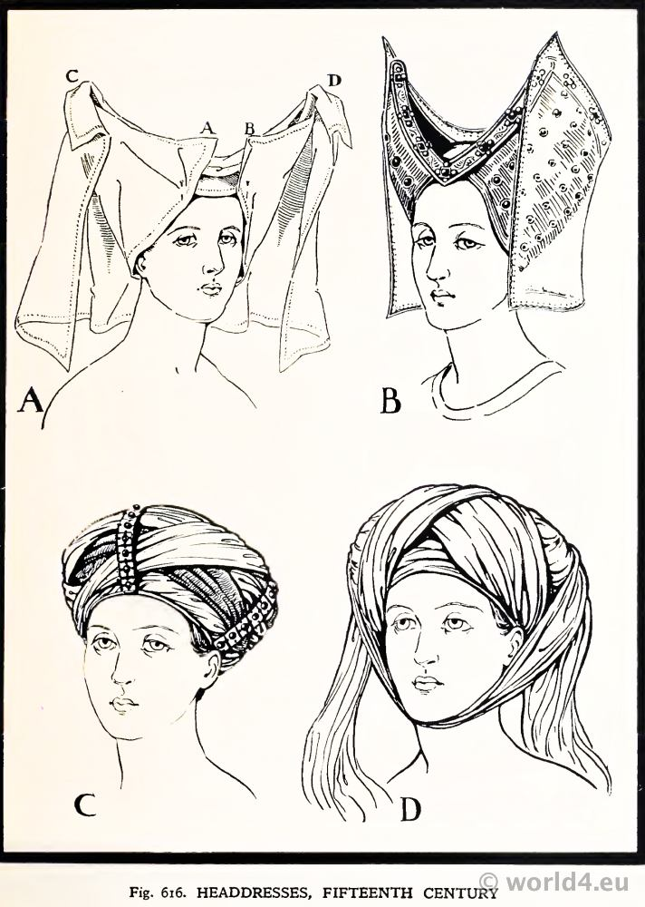 Headdresses 15th Century The Reticulated Headdress