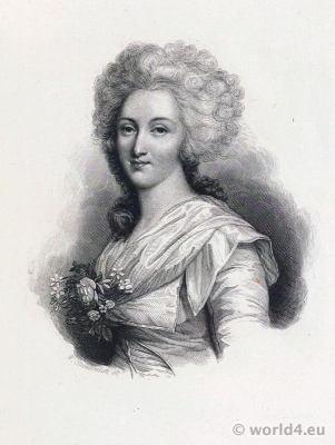 French princess. Élisabeth Philippine Marie Hélène de France. Madame Élisabeth. 18th century costumes. French Revolution History.