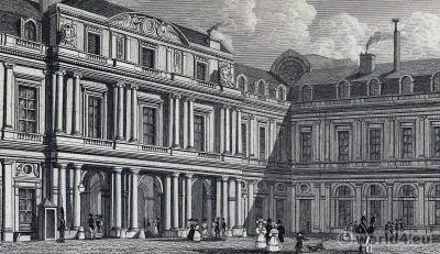 The Palais-Royal. Palace of the Duke of Orleans called Philippe Égalité, Palais de l'Égalité.