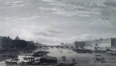 Paris Pont Neuf in 18th century