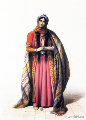 Isfahan,Persia, 19th century, Iran, historic,clothing,traditional,oriental,costume,dress,