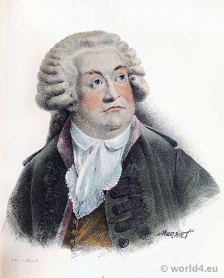 Mirabeau. Portrait. French Politician. Physiocrat, writer. Age of Enlightenment