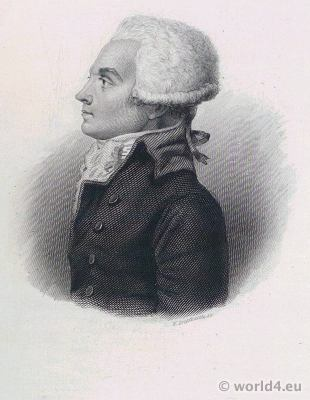 Maximilien Robespierre. French lawyer and politician. Portrait French Revolution History
