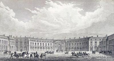 Grande, Écurie, Roi, Versailles, Place d'Armes, Jules Harduin-Mansart, Versailles, Royal, château, Louis XIV, palace, France,