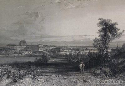 Château de Versaille. 18th century. Royal palace. Louis XIV.