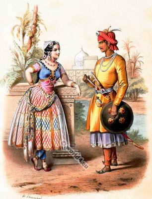 India, Costumes, Alexandre Lacauchie, fashion history