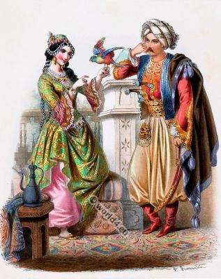 Costumes Turcs. Alexandre Lacauchie. Les nations. Album des Costumes De Tous les Pays.