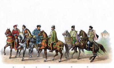 Herman Count of Bronckhorst. Emperor Charles V. Renaissance fashion period. 16th century military uniforms.