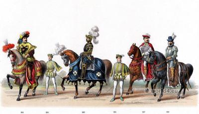 Ferdinand II, Archduke of Further Austria. Renaissance 16th century costumes.