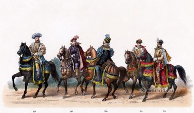 Marshall of Flanders. Emperor Charles V. Renaissance fashion period. 16th century military uniforms. Dutch War.