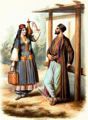 Crimean, Tatars, Costumes, Alexandre Lacauchie, fashion history