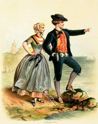 Netherlands, Dutch, Costumes, Alexandre Lacauchie, fashion history