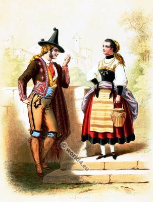 Costumes en portugais português. Alexandre Lacauchie. Les nations. Album des Costumes De Tous les Pays.