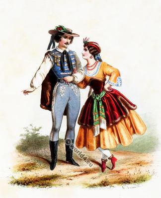 Hungary, Costumes, Alexandre Lacauchie, fashion history