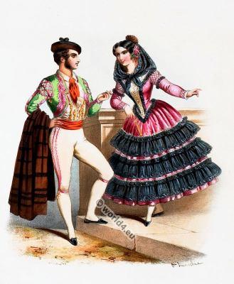 Spain, Costumes, Alexandre Lacauchie, fashion history