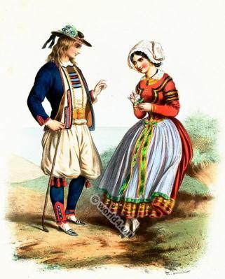 Costumes Bretons. Alexandre Lacauchie. Les nations. Album des Costumes De Tous les Pays.
