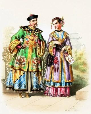 Costumes Chinois. Alexandre Lacauchie. Les nations. Album des Costumes De Tous les Pays.