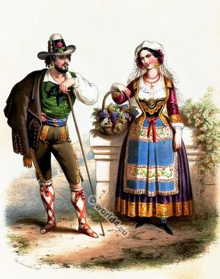 Costumes Romains. Alexandre Lacauchie. Les nations. Album des Costumes De Tous les Pays.