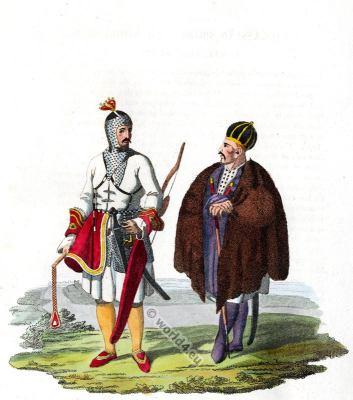 Circassian Prince costume. Traditional Caucasian national costume. Russia folk dress.