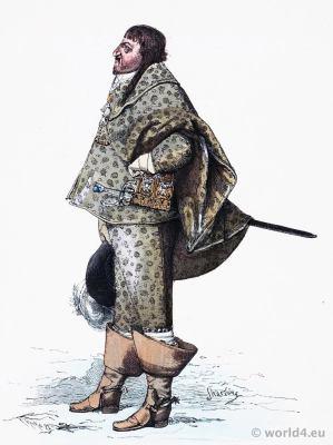 Christian den Fjerde. Christian IV of Denmark. Baroque costume. 17th century clothing. Franz Lipperheide