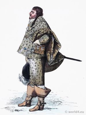 Christian den Fjerde. Christian IV of Denmark. Baroque costume. 17th century clothing. Franz Lipperheide