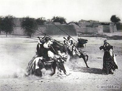 African warriors tribe tournament in Dikwa, Borno State, Nigeria.