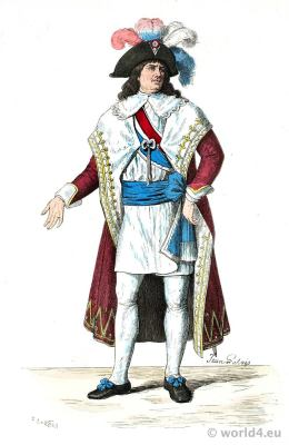 Member of the Directoire.French Revolution costumes. Merveilleuses. Neoclassical fashion