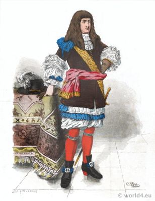 German baroque aristocracy costume.