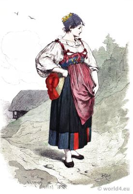 Traditional Black Forest folk costume