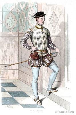 German Renaissance aristocracy costume. Franz Lipperheide. 16th century nobleman spanish court dress