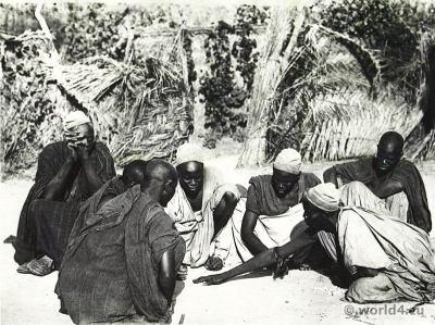 African tribe. Kanouri, Kanowri, Yerwa costume. Dikwa Nigeria