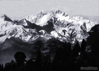 Mt. Kanchanjungha. Darjeeling India. View on Himalaya. J. Burlington Smith.