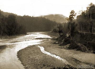 River Teesta Valley. Kalijhora Bungalow. Siliguri Darjeeling India. View on Himalaya. J. Burlington Smith.