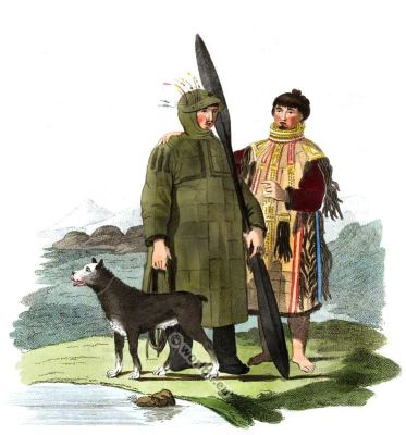 Unalaska, Aleutian Islands, folk dresses, Traditional, Russian, national, costume
