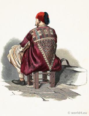 Persian traditional costume. Khōī, Khoy Azerbaijan folk dress. Franz Lipperheide. Arabian muslim clothing