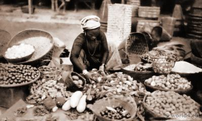 A Tibetan Vegetable Seller. J. Burlington Smith.