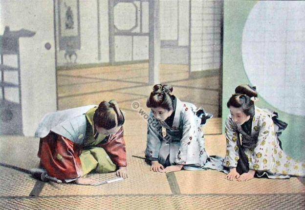 Visit Ceremony in Japan. Traditional Japan Costumes. Souvenirs de Voyages