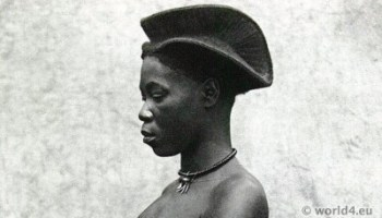 Pleasing African Hairstyle Congo Makele Goma Woman Costume History Short Hairstyles For Black Women Fulllsitofus